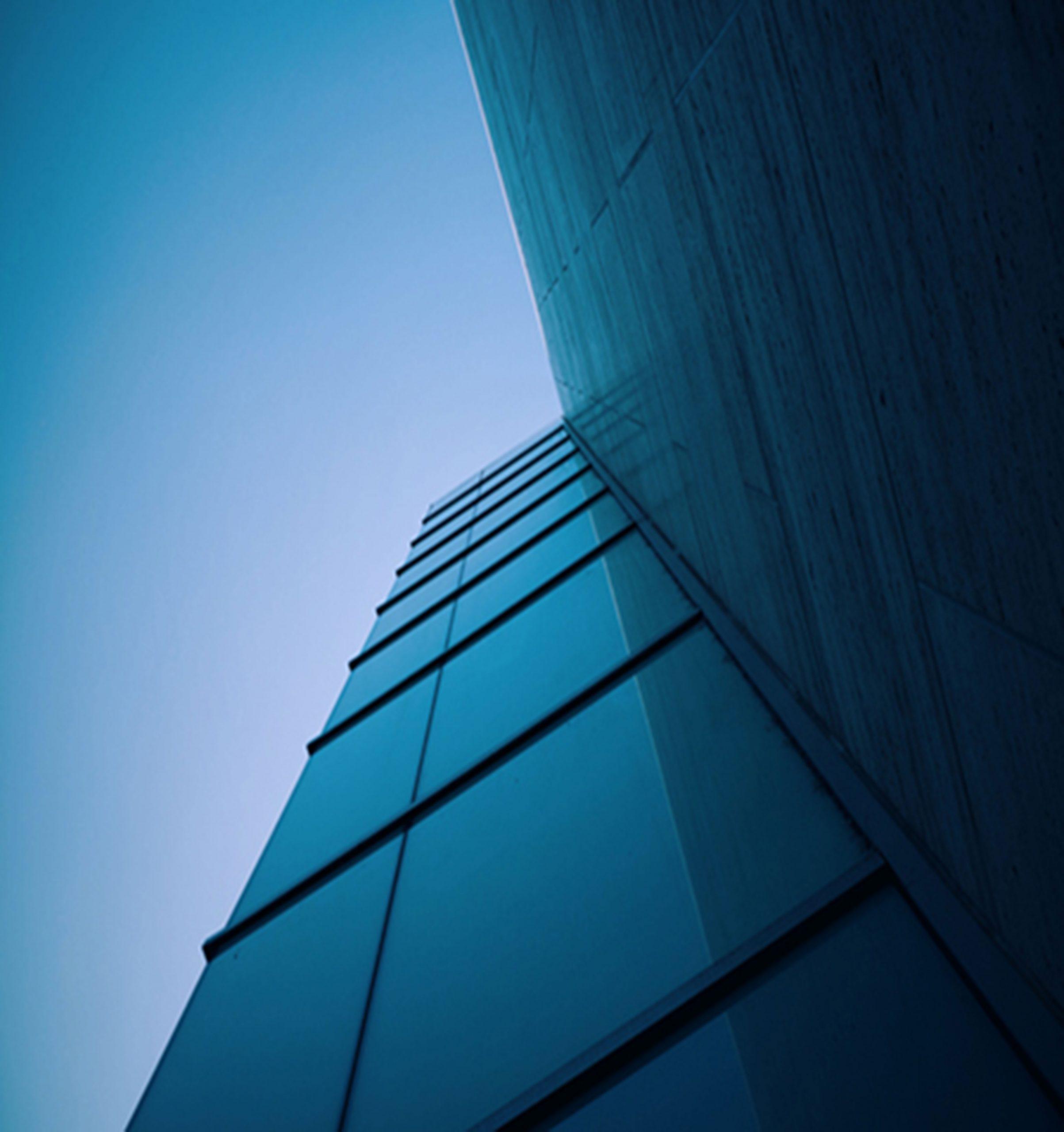 batiment bleu